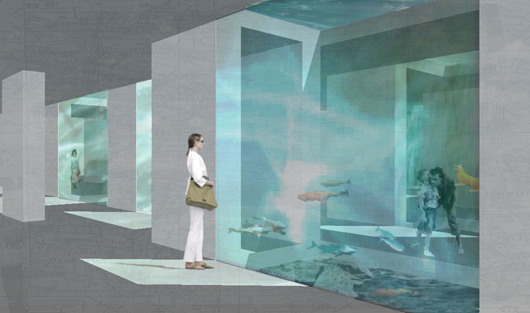space for contemplation, under the water