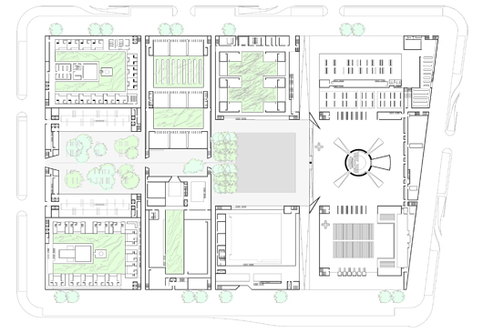 coptic center st. mark's competition, first floor plan